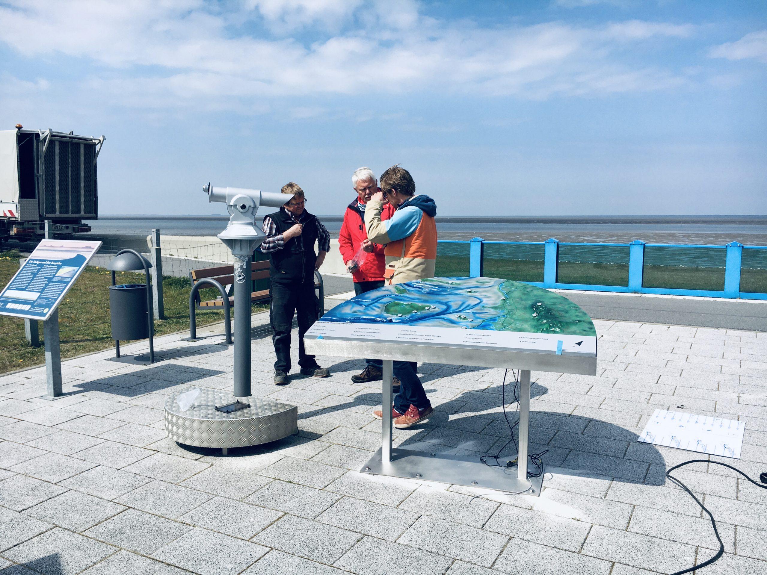 27.04.2020: Aussicht durch Andersicht – unser Fernrohr zum Schauen, Hören und Fühlen auf dem Klimadeich von Nordstrand